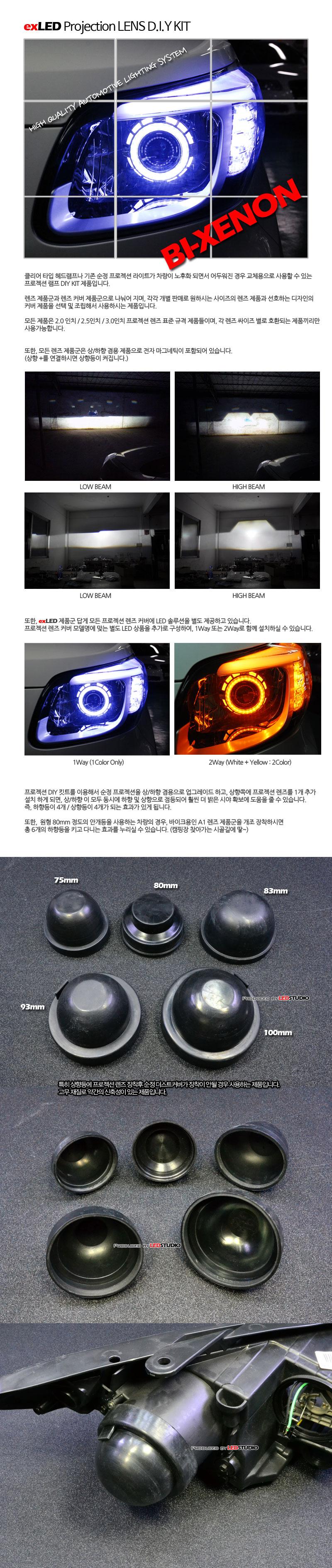 exLED 프로젝션 렌즈 DIY KIT - 고무 더스트 커버 (렌즈 개조용) (1PCS)