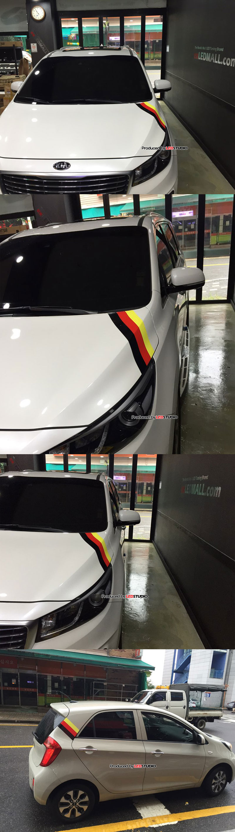BMW M 스타일 데코레이션 스티커 (폭 15cm / 1m 단위 판매)