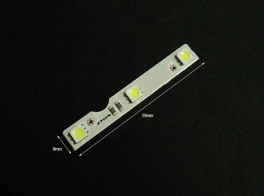 초특가 초슬림 12v 3P WHITE 6000K LED 모듈 (5450버젼)