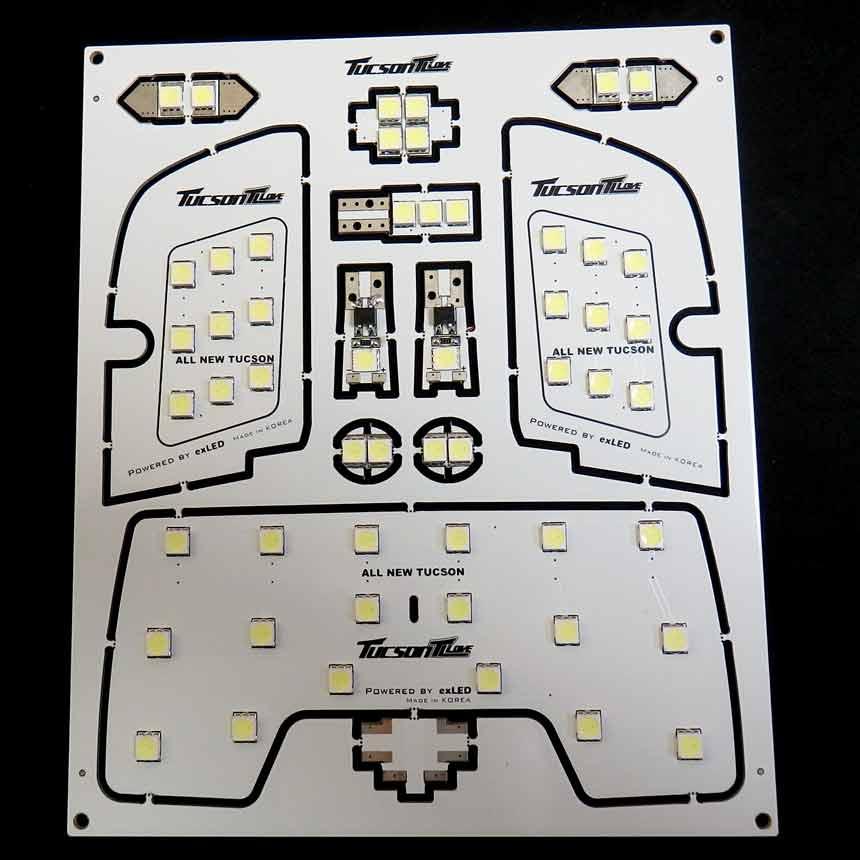 exLED 투싼 TL용 실내등(풀셋트/공동구매형)
