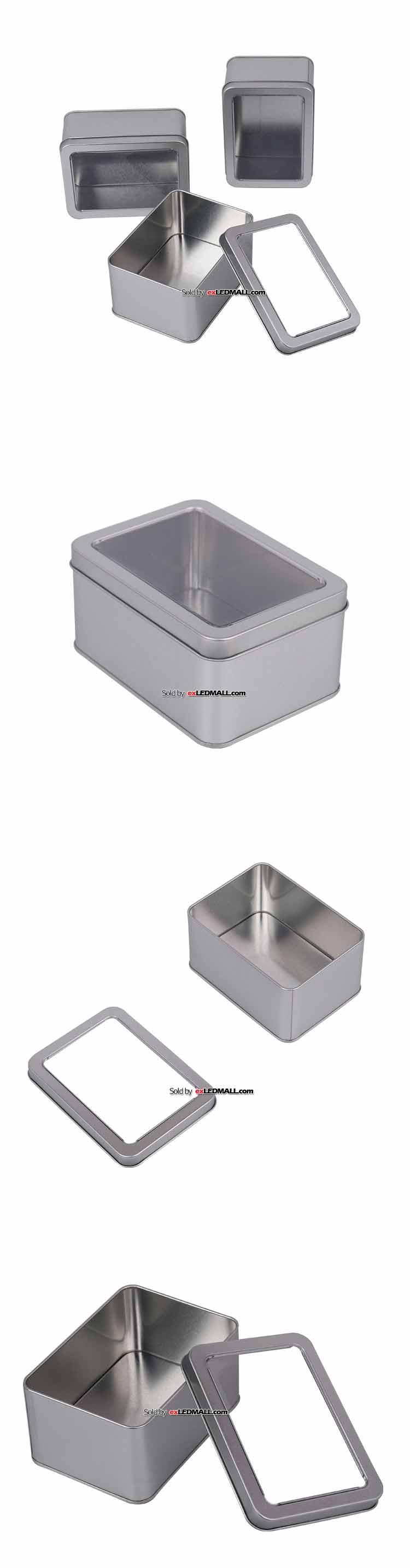 알루미늄 케이스 사각 투명창 125x92x60mm (부품통/피스통/나사통/넛트통)