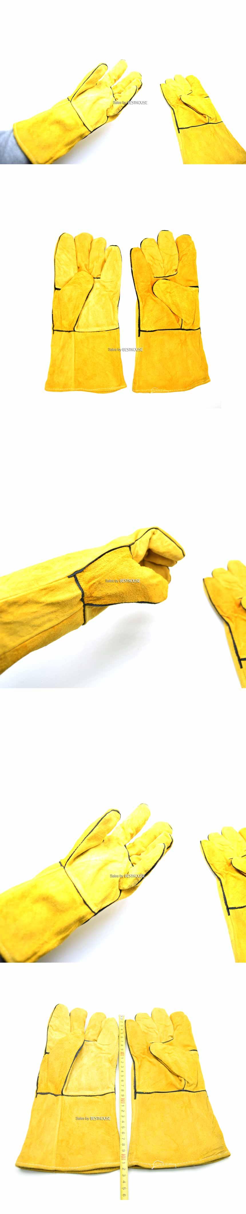 (목긴) 용접/선인장원예장갑 두꺼운 우피/FREE사이즈