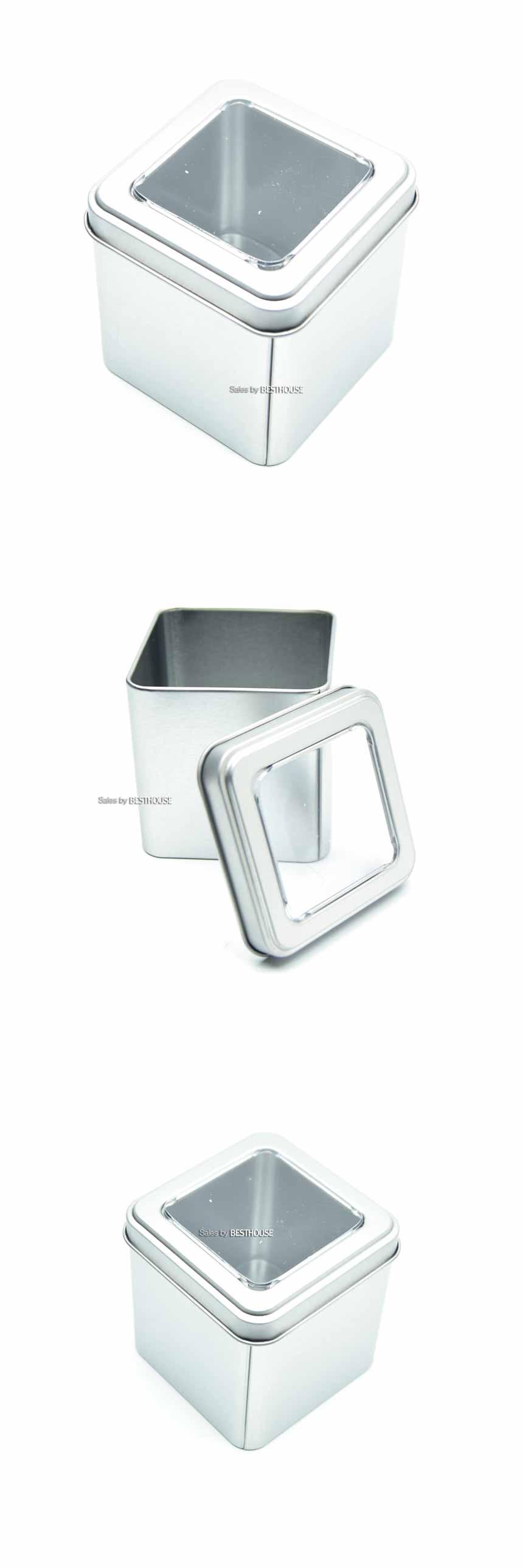 알루미늄 케이스 사각 투명창 75x75x75mm (부품통/피스통/나사통/넛트통)