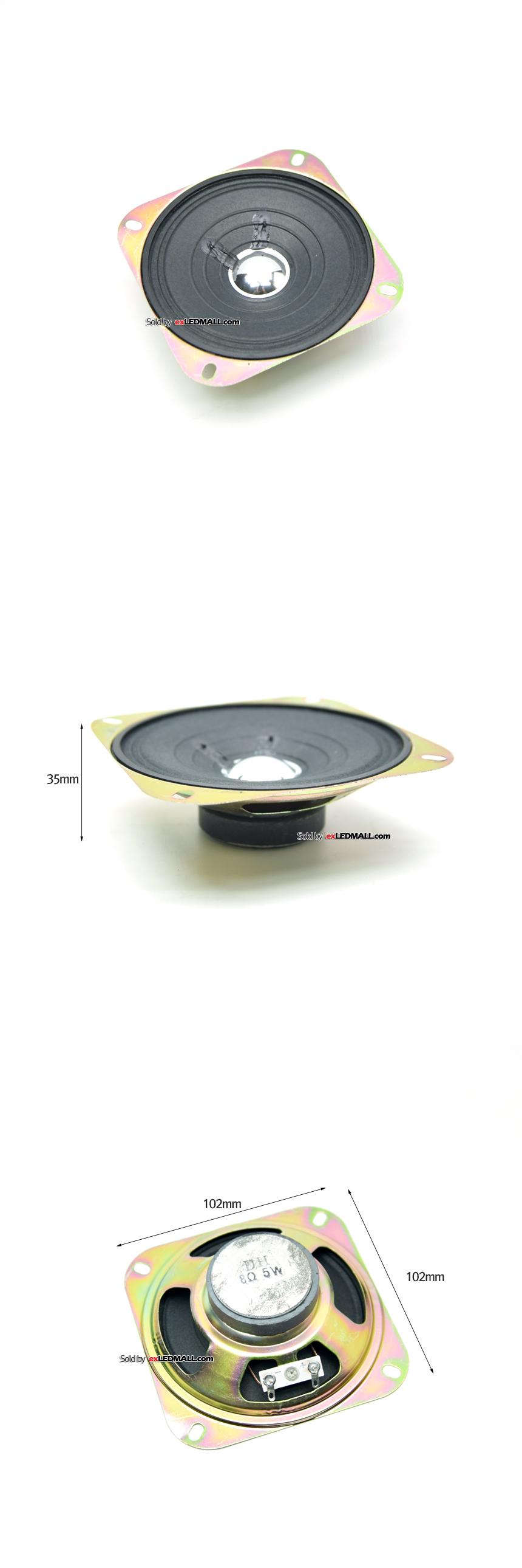 LCD DIY용 8Ω(8옴) 5W 다이나믹 우퍼콘지 고출력 스피커 10x10cm